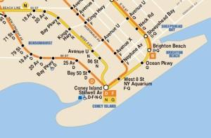 Metro naar Coney Island